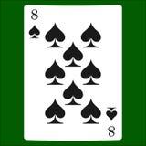 Åtta spadar Kortdräktsymbol som spelar kortsymboler vektor illustrationer
