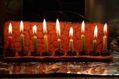Åtta stearinljus av Chanukkah, 2017 Arkivfoto