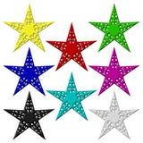Åtta stjärnor isolerat Royaltyfri Fotografi