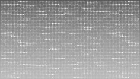 提取闪动的水平线由小点做成在灰色背景,loopable动画 皇族释放例证