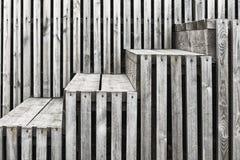 梯子由有空白的委员会做成 图库摄影