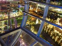 横滨夜全景从弗累斯大转轮的 免版税图库摄影