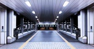 横跨路的对称隧道走道 免版税图库摄影