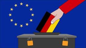 欧洲选举的德国投票箱 皇族释放例证