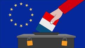 欧洲选举的法国投票箱 皇族释放例证