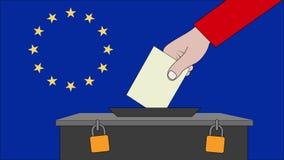 欧洲选举的投票箱 库存例证