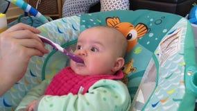 母亲喂养婴儿孩子 股票视频