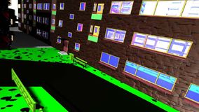 汽车路安置粥街道石头街道围场街道摇摆幻灯片幻灯片 向量例证