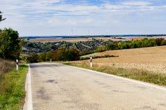沿浪漫路的风景在德国 库存图片