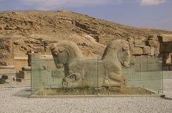 波斯波利斯复合体的古老废墟,古老波斯,伊朗的著名礼仪首都 免版税库存图片