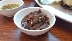 泰国热的辣酱 免版税库存图片