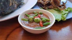 泰国热的辣酱 库存照片