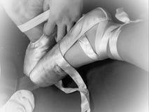 浪漫芭蕾拖鞋 免版税库存图片
