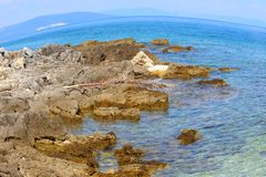 海在伊斯特拉半岛 库存照片