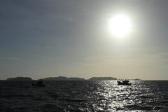 海在Nam Du,越南 库存照片