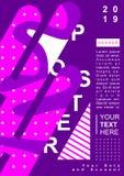 海报设计模板有抽象背景 向量例证