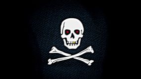 海盗旗子,蓝色eyesPirate旗子,红色眼睛 向量例证