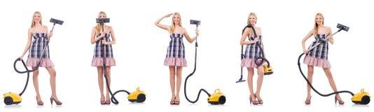 清理的概念的美女 免版税库存图片