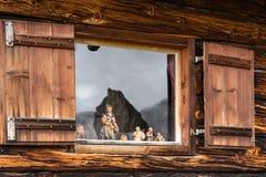湖圣诞老人Caterina或贝卢诺,意大利省的Auronzo湖  图库摄影