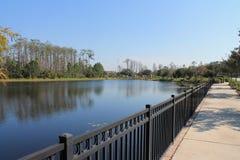 湖Nona在湖Nona奥兰多佛罗里达的江边物产 库存图片