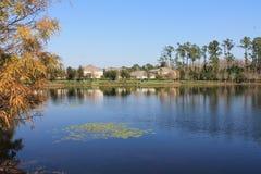 湖Nona在湖Nona奥兰多佛罗里达的江边物产 库存照片