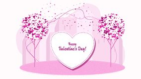 柔和的词,爱的声明 字符为情人节 向量例证