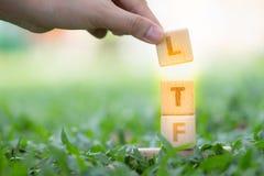木刻词LTF和RMF 图库摄影
