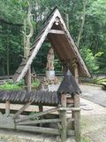 木雕塑在公园索波特波兰 免版税图库摄影
