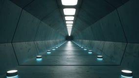 未来派内部走廊建筑学 免版税库存照片