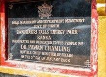 3月2018年Banjhakri秋天和能量公园,gangtok,印度 2018年3月 图库摄影