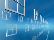 挑选明亮的蓝色天Windows  库存图片
