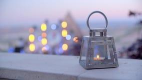 有蜡烛的美丽的灯笼 影视素材