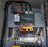 有0的开关内阁 4 kV开关 免版税库存图片