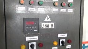 抽的过滤器驻地的控制板水净化的 股票录像