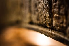 抽象石曲拱-温暖的颜色 库存照片