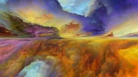 抽象风景领土  向量例证