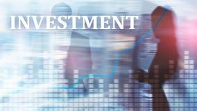 投资, ROI,金融市场概念 混合画法 库存图片