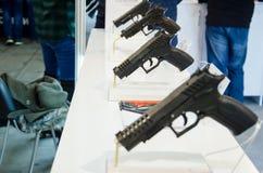 枪陈列台 免版税库存图片
