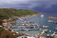 戈佐岛海岛口岸在马耳他 库存照片