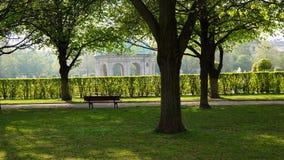 戴安娜英国庭院皇家公园慕尼黑巴伐利亚的寺庙 库存照片