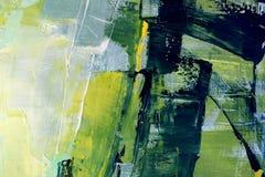 春天绘在帆布的颜色 森林横向油画河 抽象派背景 在画布的油画 颜色纹理 艺术品的片段 向量例证