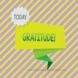 显示谢意的文字笔记 企业照片陈列的质量是感激的欣赏感谢 库存例证