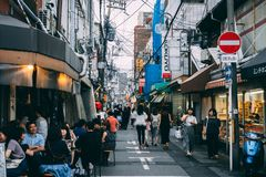 日本街道食物 免版税库存照片