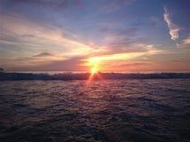 日落在泰国,在天空,普吉岛的云彩 库存图片