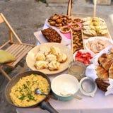 早午餐食物 免版税库存照片