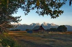 摩门教行历史的区,大蒂顿国家公园,怀俄明,美国 免版税库存照片
