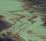 摘要干燥被绘的墙壁 波浪厚实的油漆纹理 多&混合多媒介艺术 免版税图库摄影
