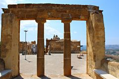 意大利,西西里岛:Sambuca废墟  免版税库存图片