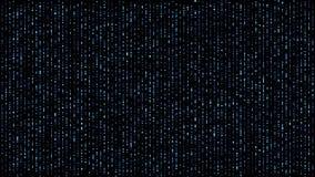 数字蓝色矩阵的球形跌倒 向量例证