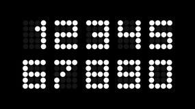 数集电子记分牌的与圆的段的 皇族释放例证
